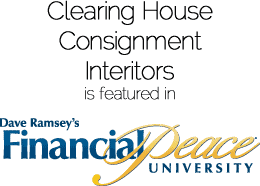 Clearing House Consignment Interiors is featured in Dave Ramsey's Financial Peace University